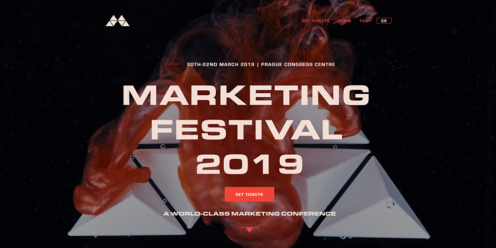 Marketing Festival 2019 - tvorba webu marketingové konference